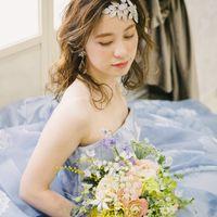 """ドレスで変わる花嫁様の印象 """"ブルードレス"""""""