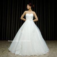 白い挙式用のオーガンジーAラインドレスを作りました。