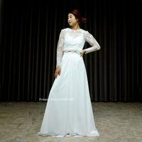 白いセパレートドレスを作りました。