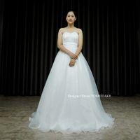 挙式用オーガンジースカートの白ドレスを作りました。