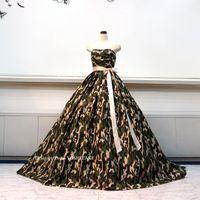 迷彩柄のドレスを作ってみました。とても珍しいです。