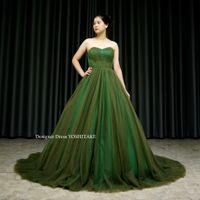 グリーンのカラードレスを作ってみました。