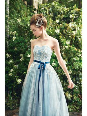 2986d576886f8 3ページ目)「青」のカラードレス一覧|ウェディングドレスの口コミサイト ...