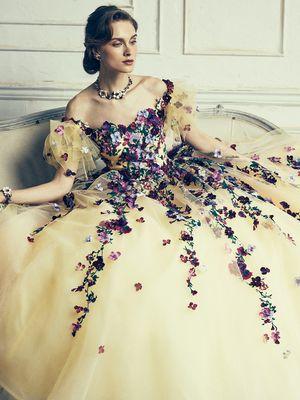 1c693402867c4 黄」のカラードレス一覧 ウェディングドレスの口コミサイト ...