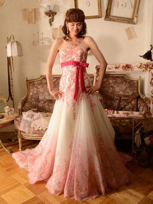 f3b9f336bf1fd 3ページ目)「ピンク」のカラードレス一覧|ウェディングドレスの口コミ ...