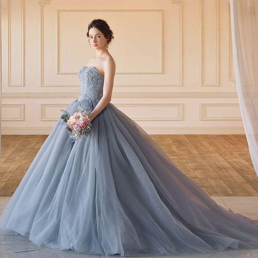Emily(エミリー)グレーのカラードレス SS5982Gray