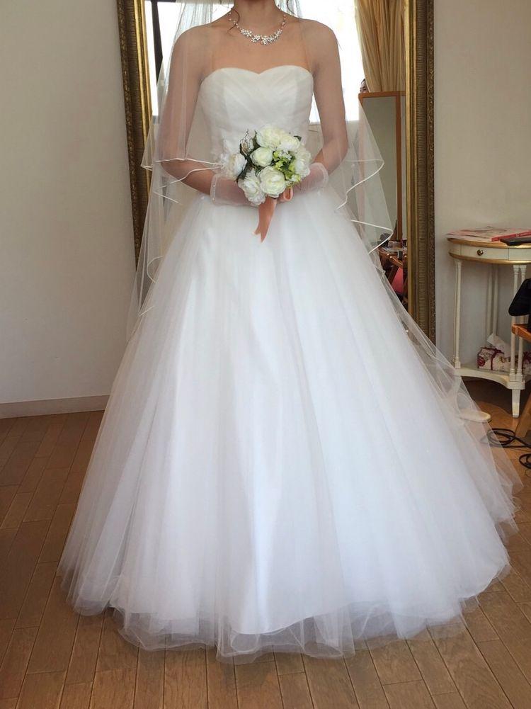 413d5e0027a8e ナチュラル可愛いウェディングドレス」チュールがラメでキラキラで一目 ...