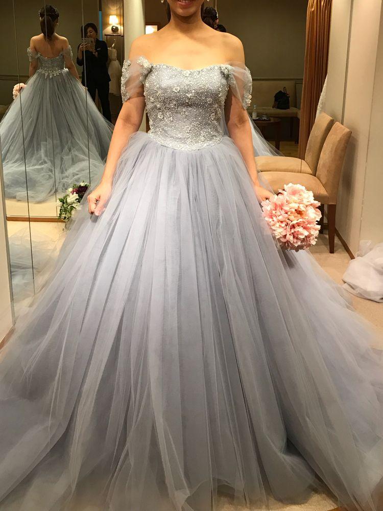 シンデレラのような大人っぽいお姫様ドレス