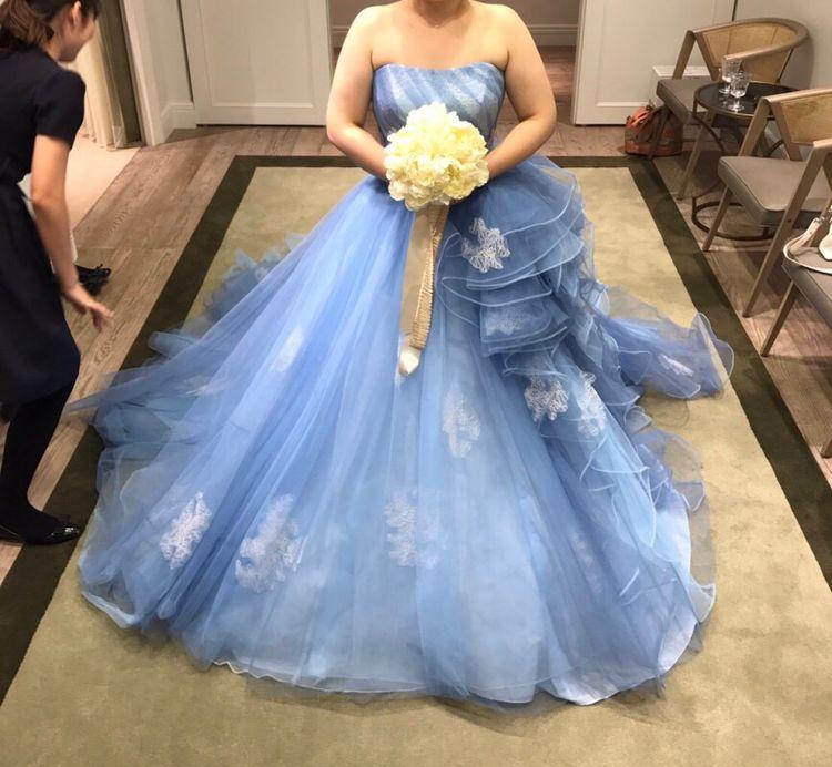 ブルーのシンデレラドレス