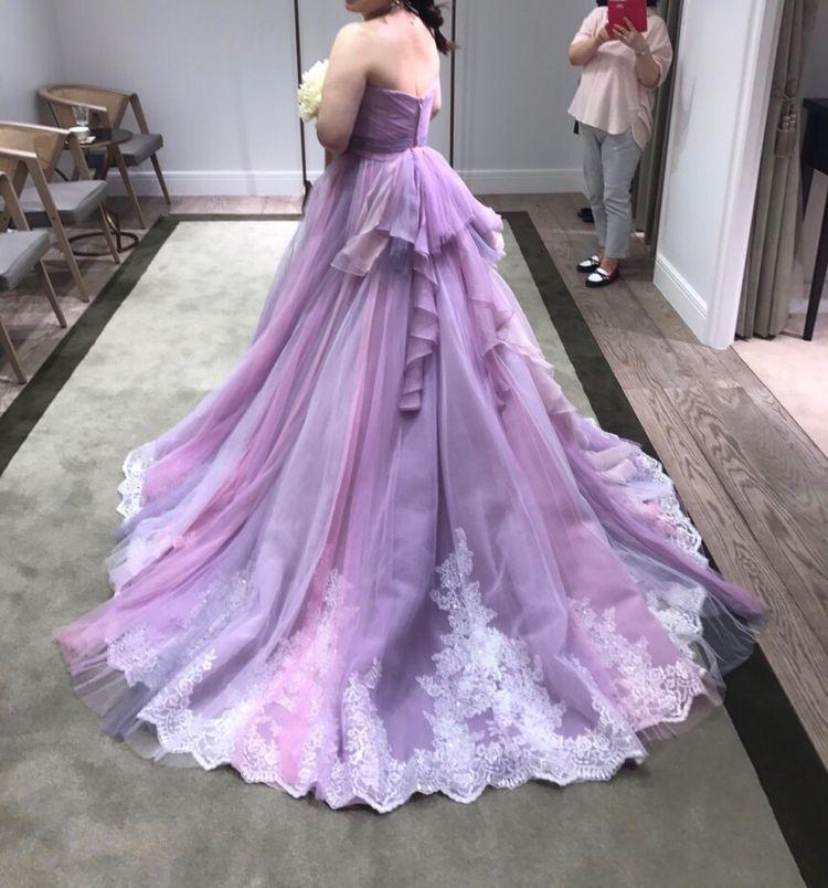 ラベンダーカラーのラプンツェルドレスに一目惚れ