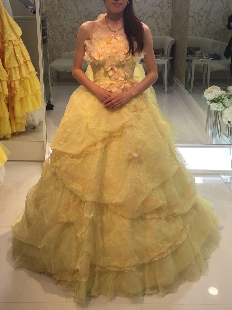 可愛らしいお花のドレス