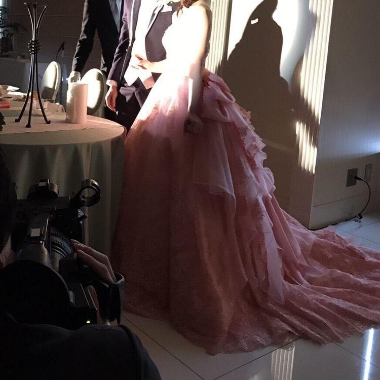 お姫様気分のピンクドレス
