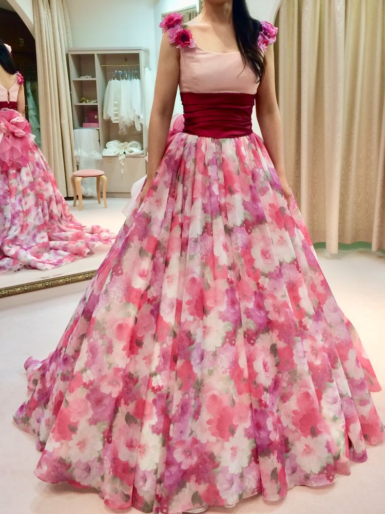 花柄好きが選んだドレス