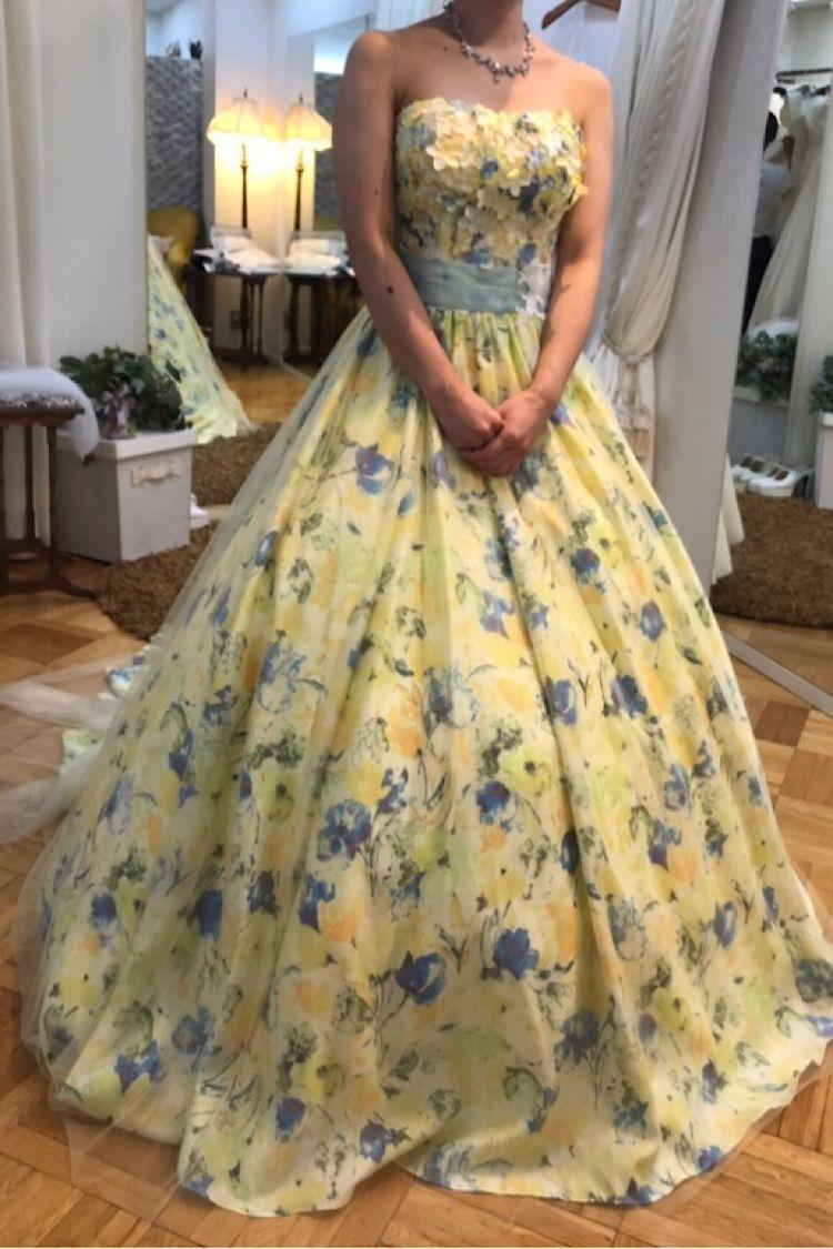 お花のカラードレス