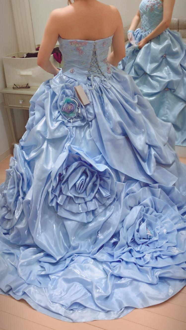シンデレラみたいなお花ドレス