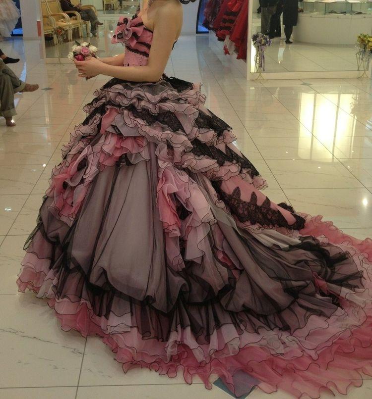 王道お姫様スタイルのドレス