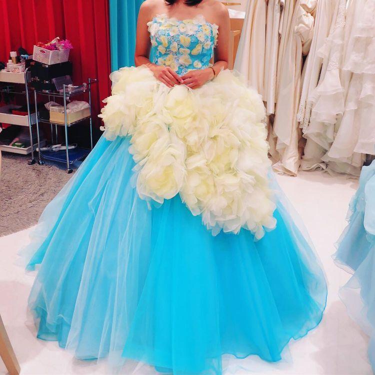 キヨコハタ×marryの芍薬ドレス