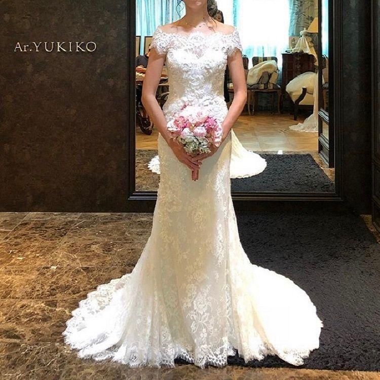水晶の輝きがきれいなマーメイドドレス