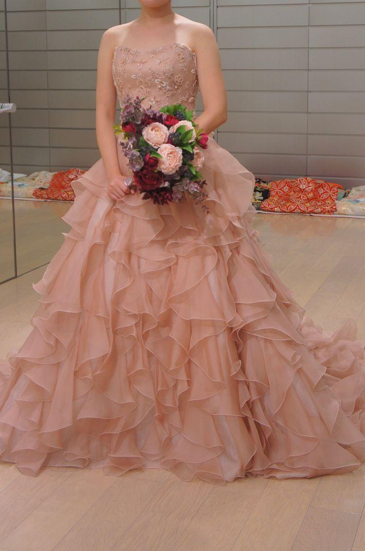 大人ピンクな可愛いドレス