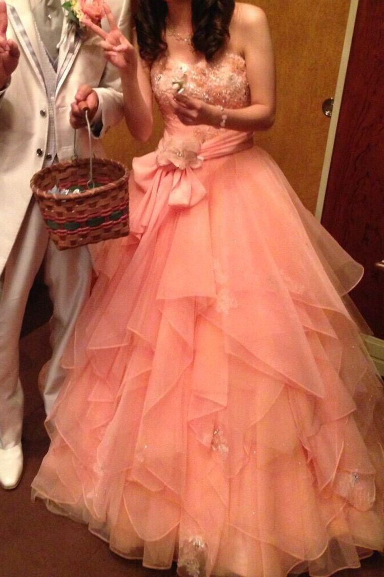 女の子のお友達から大好評だったカラードレス!