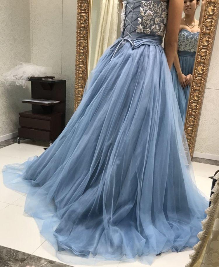 大人かわいいカラードレス