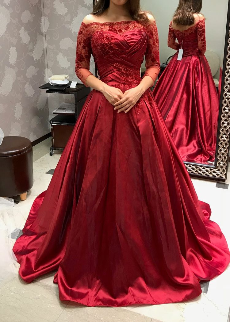 THE王道のカラードレス