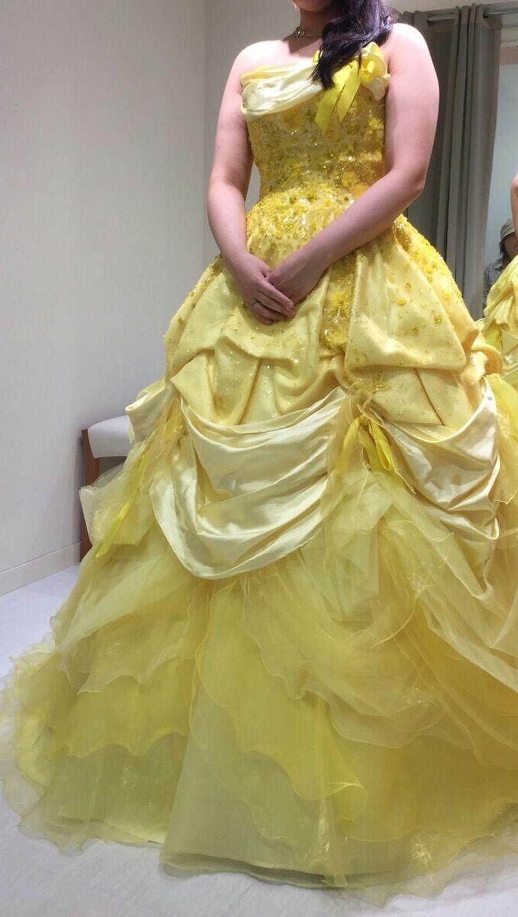 美女と野獣のベルをイメージさせるドレス