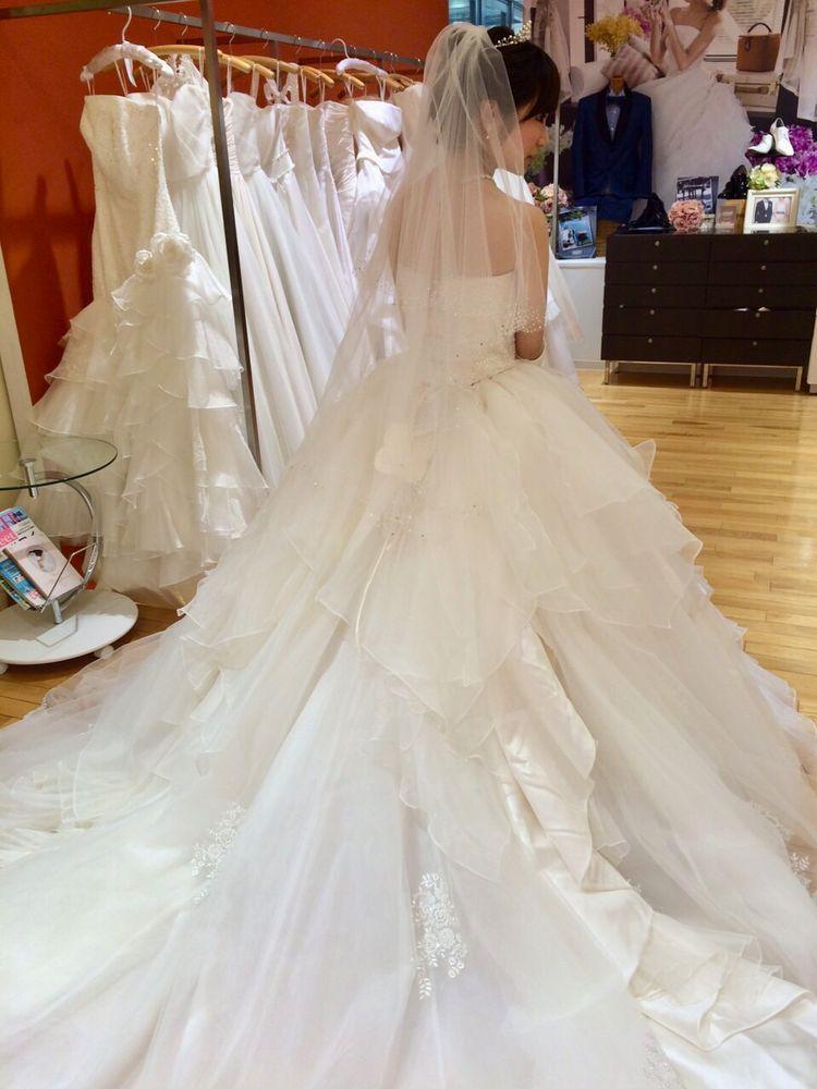 アロヒナウェディングドレス