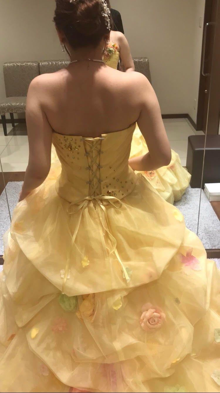お花のイエロードレス