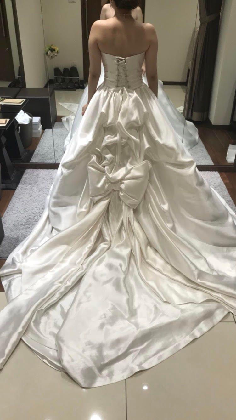 ウエストリボンのバービーウエディングドレス