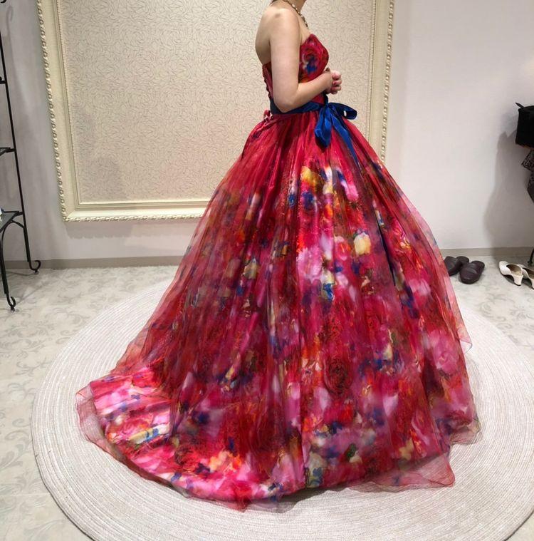 蜷川実花ドレス×真っ赤な3Dデザイン
