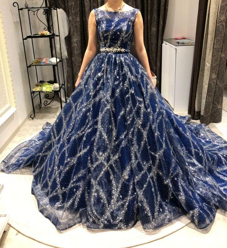 ネイビー宇宙ドレス! KIYOKO HATA × marry