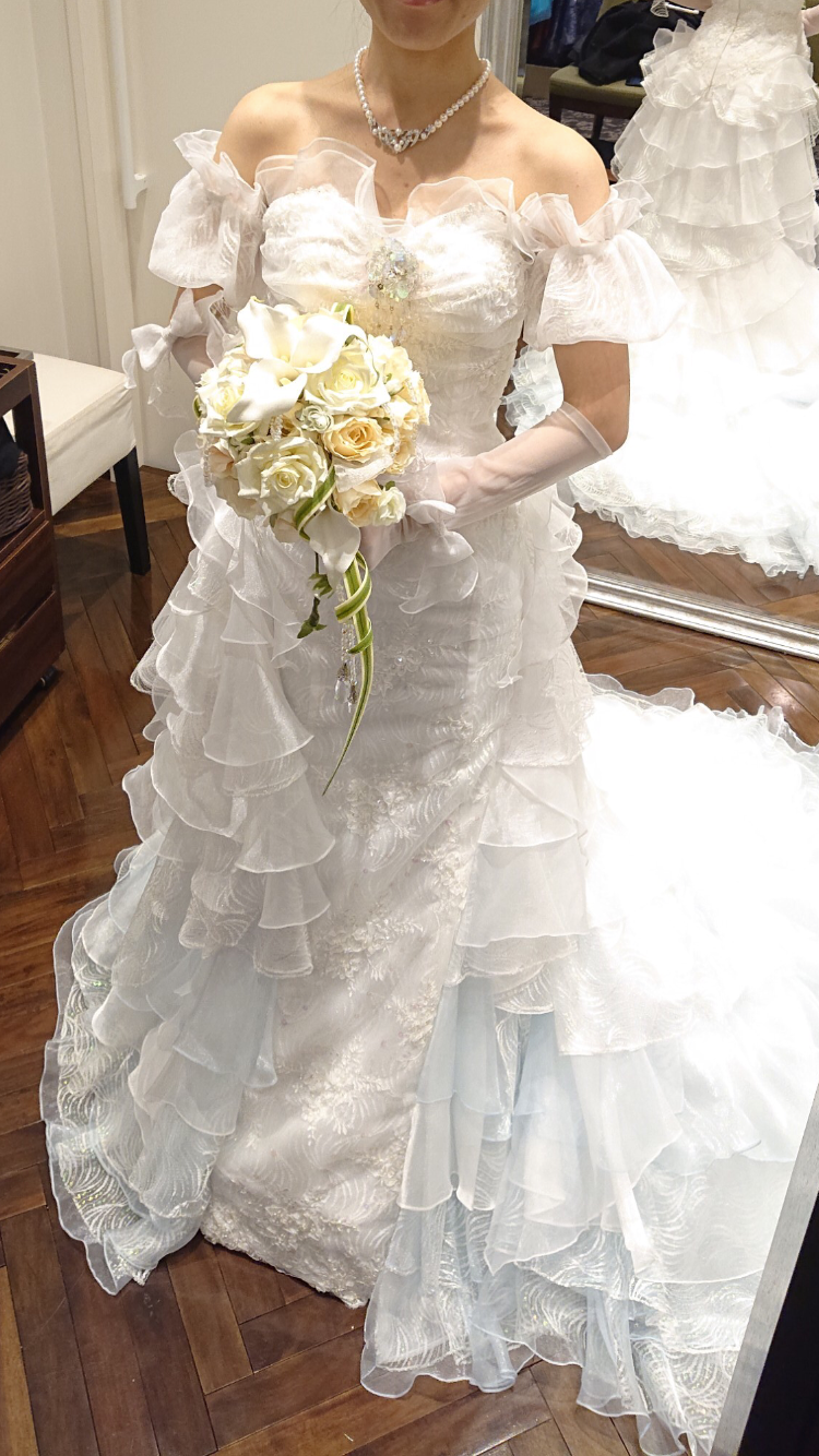 大人かわいいマーメイドドレス