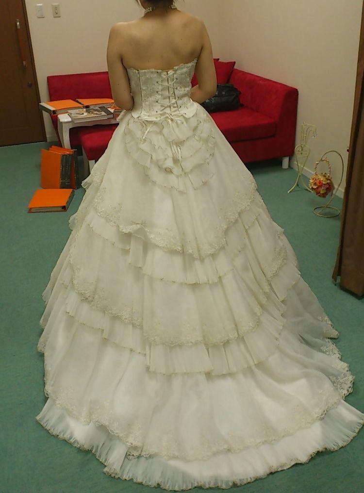 プリンセスラインのウエディングドレス