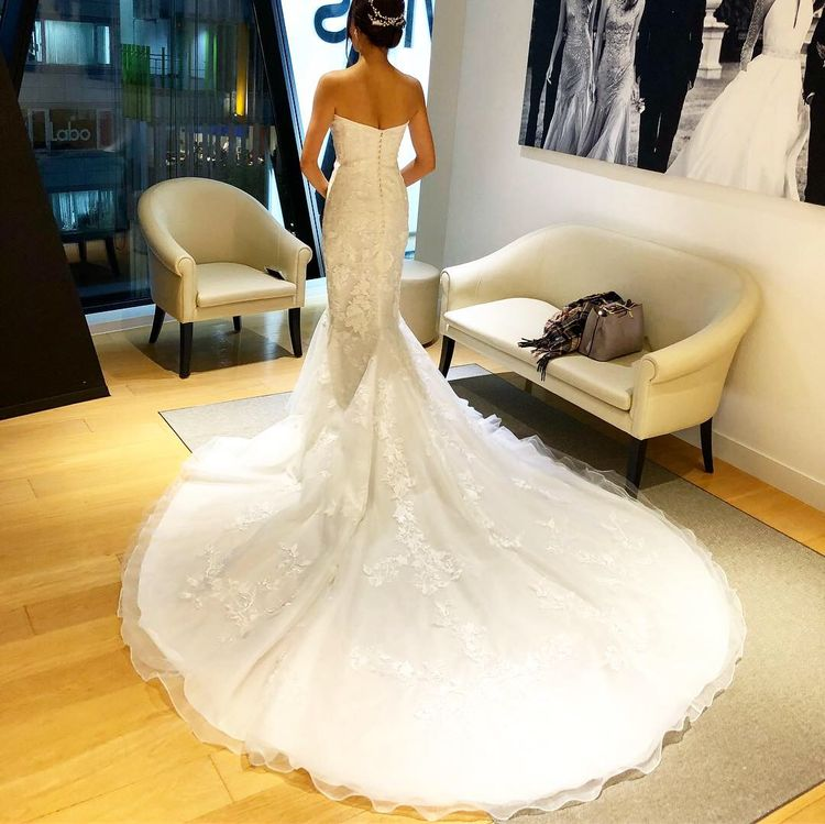 がっつりハードなマーメイドドレス