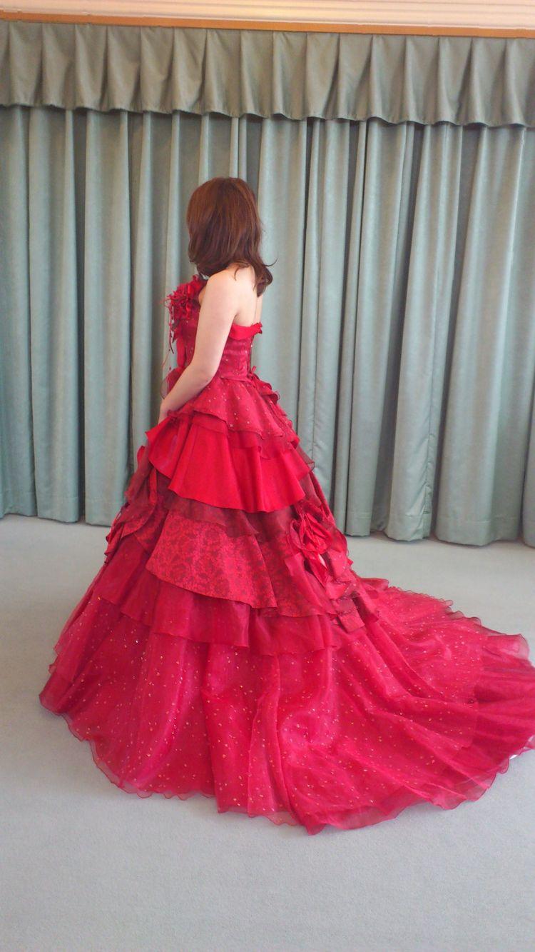 情熱の赤!!カラードレス レッド