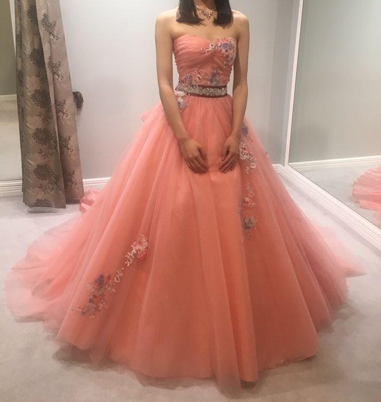 写真映えするピンクドレス