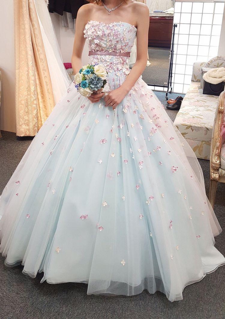お花がかわいいドレス