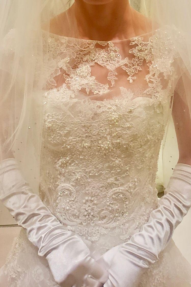 上品さと可憐さのあるドレス