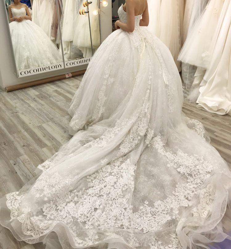 チュールレースプリンセスドレス