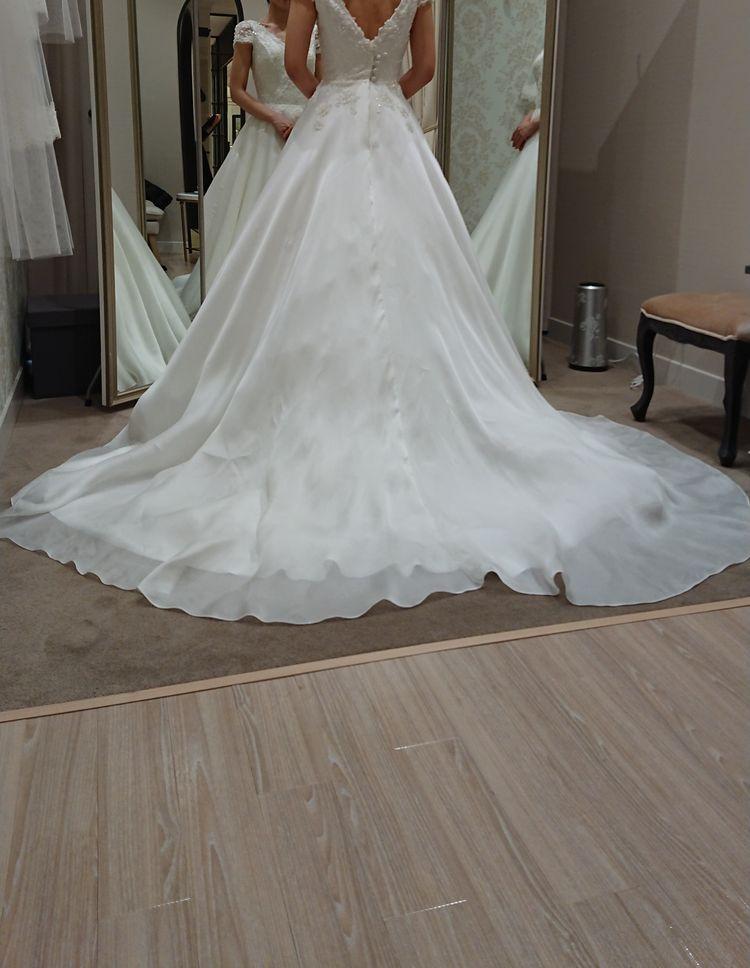 袖付きAラインドレス