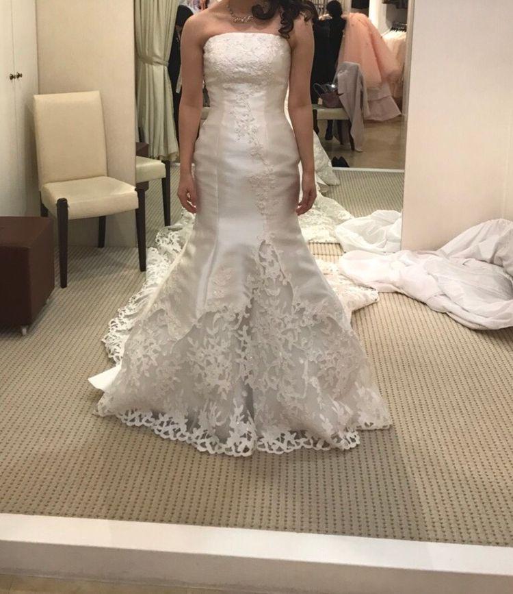 高級感のあるマーメイドドレス