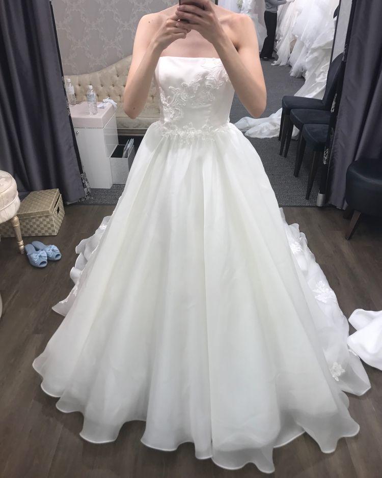 シルクのドレス