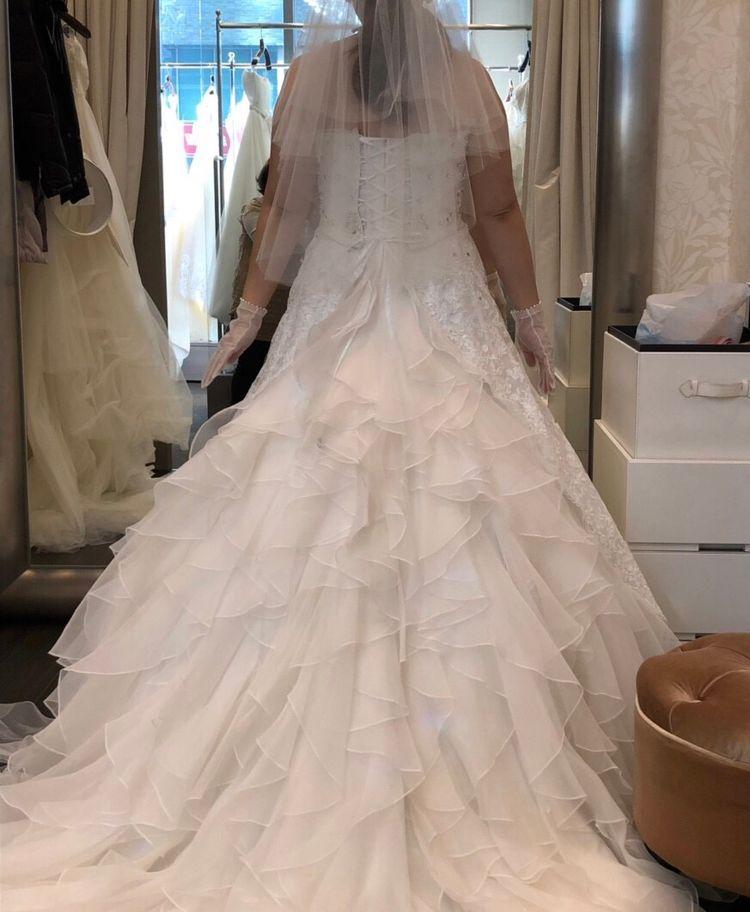 オーバースカート付きの2Wayタイプドレス