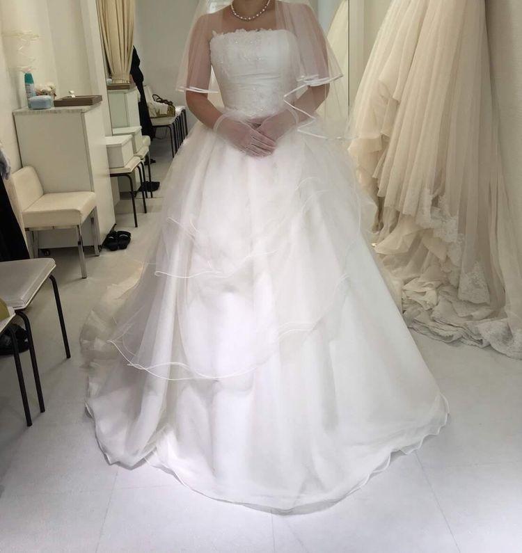 チュールのビスチェドレス