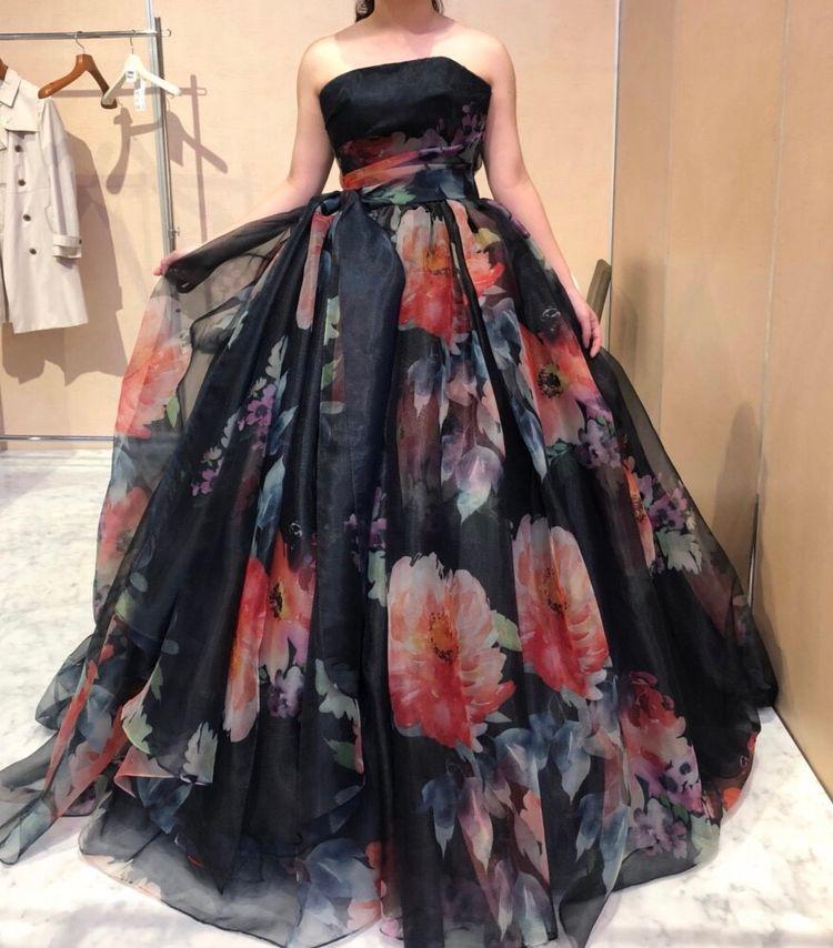 ハツコエンドウのカラードレス