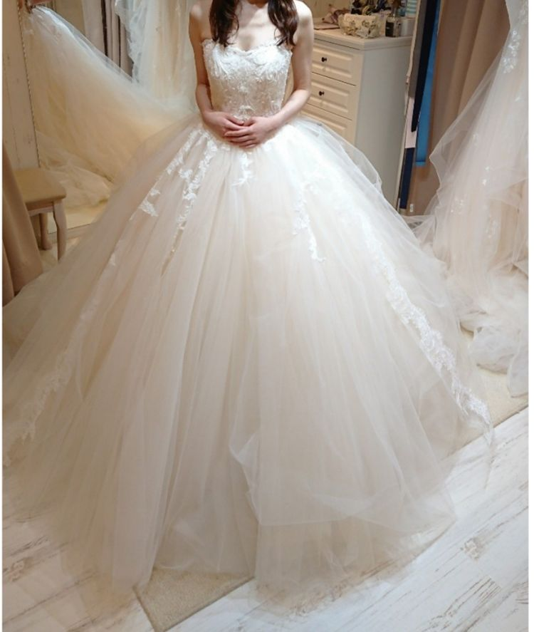 可愛らしいプリンセスラインのドレス