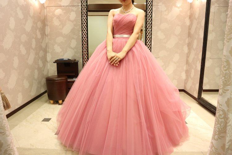 新作ピンクドレス