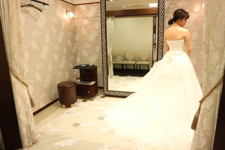 チュールのドレス