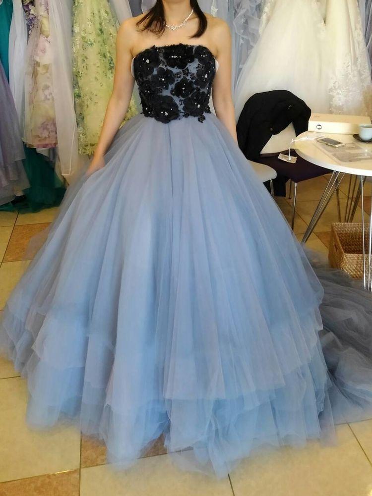 異素材のカラードレス☆